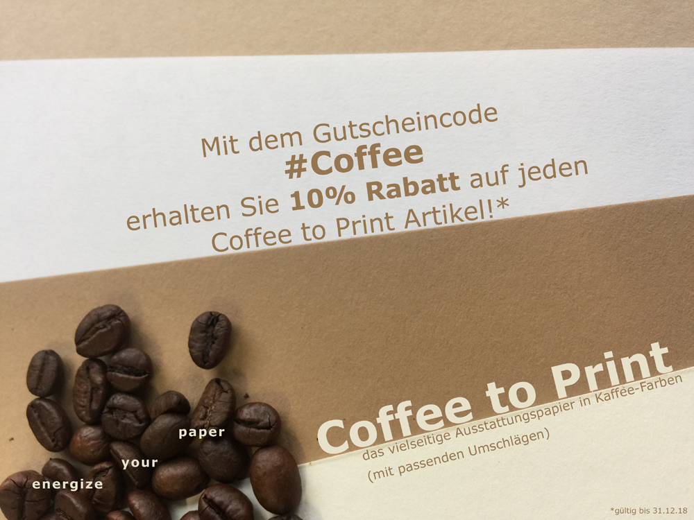 Coffe to Print Aktion