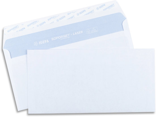 Soporset Briefhülle Din Lang Haftklebend Weiss 4396