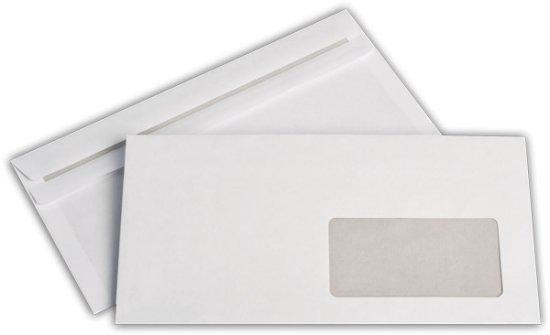 Briefhülle Din Lang Mit Fenster Rechts Weiss Selbstklebend 5930